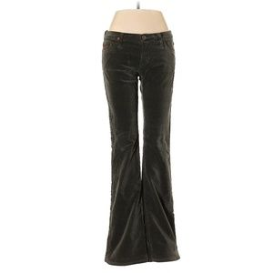 AG Adriano Goldschmied Dark Green Low Rise Jeans